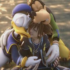 Sora se reúne con sus compañeros al final de <a href=