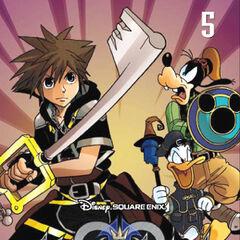 Antigua cubierta española del volumen 5 del manga de <i>Kingdom Hearts II</i>