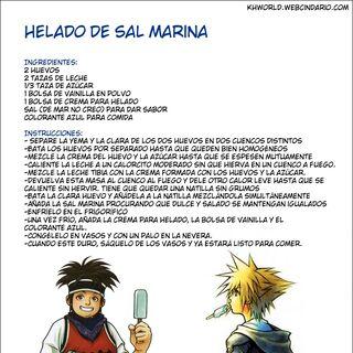 Receta para Helado de Sal Marina