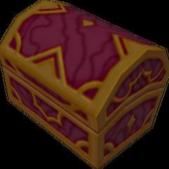 Un cofre rojo que aparece en País de las Maravillas