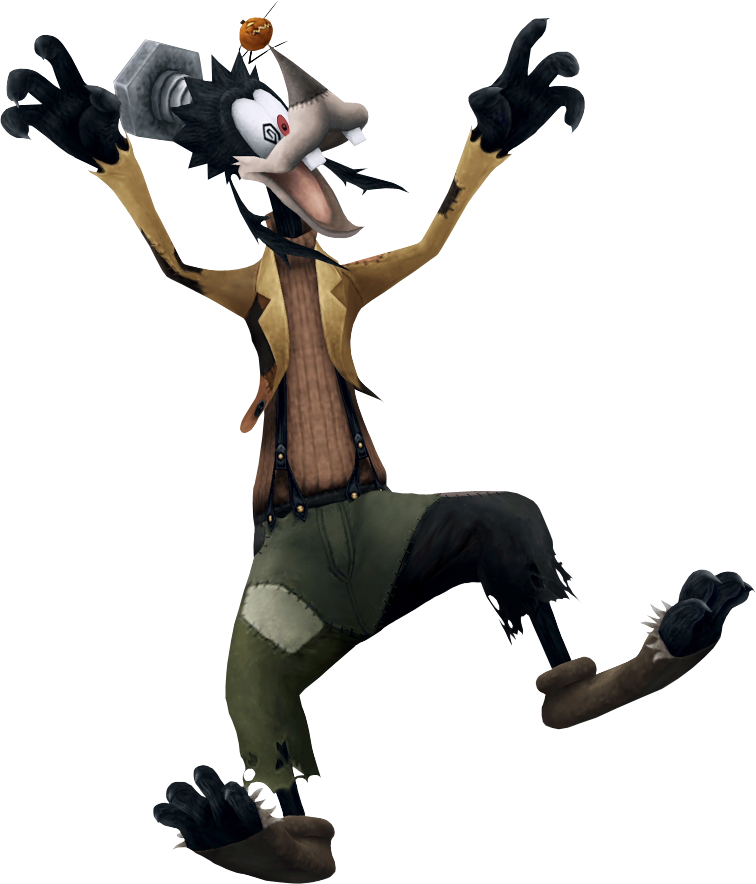 frankenstein form is the form that goofy takes on when he visits halloween town in this form he can fight with his shield like in any other world - Goofy Halloween Pictures