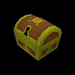 Un cofre pequeño que aparece en Bosque de los 100 Acres