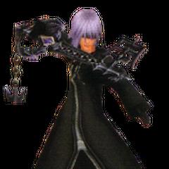 Jaxun portando su Llave Espada, Recuerdos Lejanos del Reino de la Oscuridad