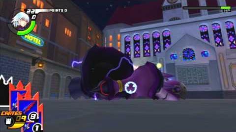 Kingdom Hearts Re Chain of Memories Reverse Rebirth Combat contre l'Armure Gardienne