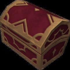 Un cofre rojo que aparece en Jungla Profunda