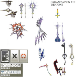 Organization XIII's Weapons (Art) KHII