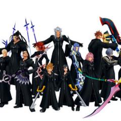 La Organización XIII al mando de Xemnas.