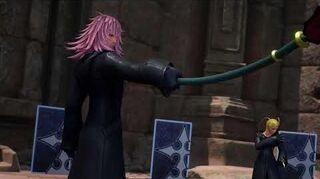 Kingdom Hearts III Re Mind Combat contre Luxord, Larxene, Marluxia et Xemnas