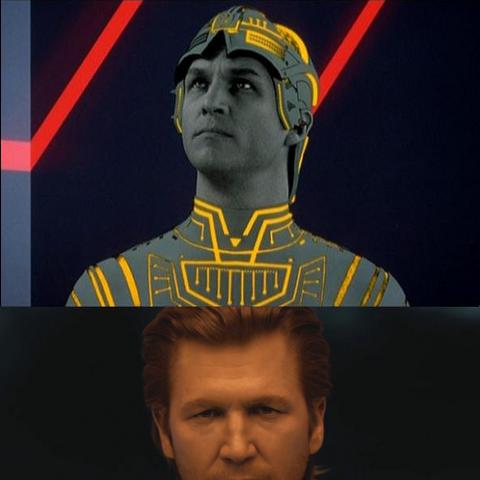 Clu en la película Tron (1982) y Tron: Legacy (2010)
