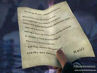 Carta de Kairi