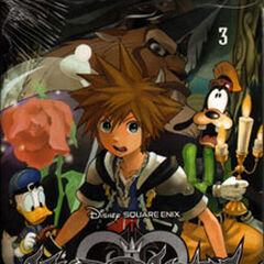 Antigua cubierta española del volumen 3 del manga de <i>Kingdom Hearts II</i>