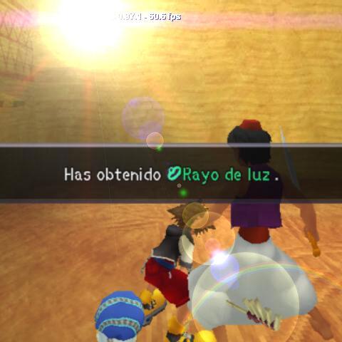 Sora obtiene Rayo de Luz tras derrotar al <a href=