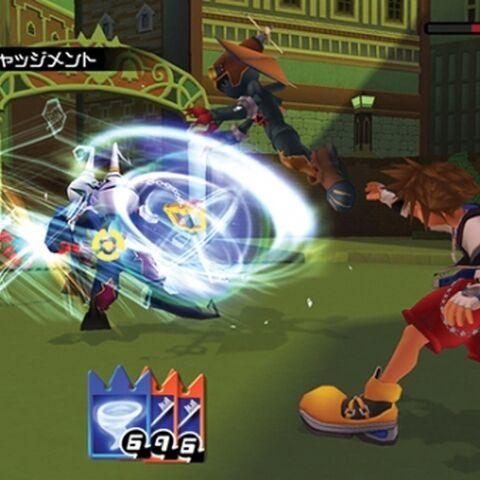 Sora usando Justicia Divina