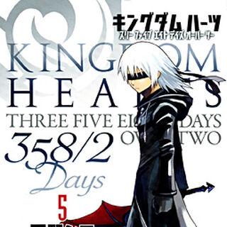 Cubierta del volumen 5 del manga de <i>Kingdom Hearts 358/2 Days</i>