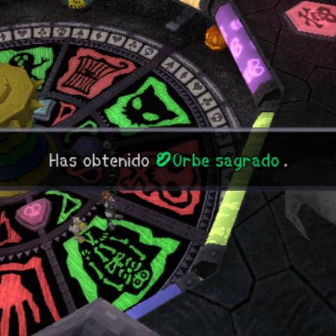 Sora obtiene Orbe Sagrado tras derrotar a Oogie Boogie.
