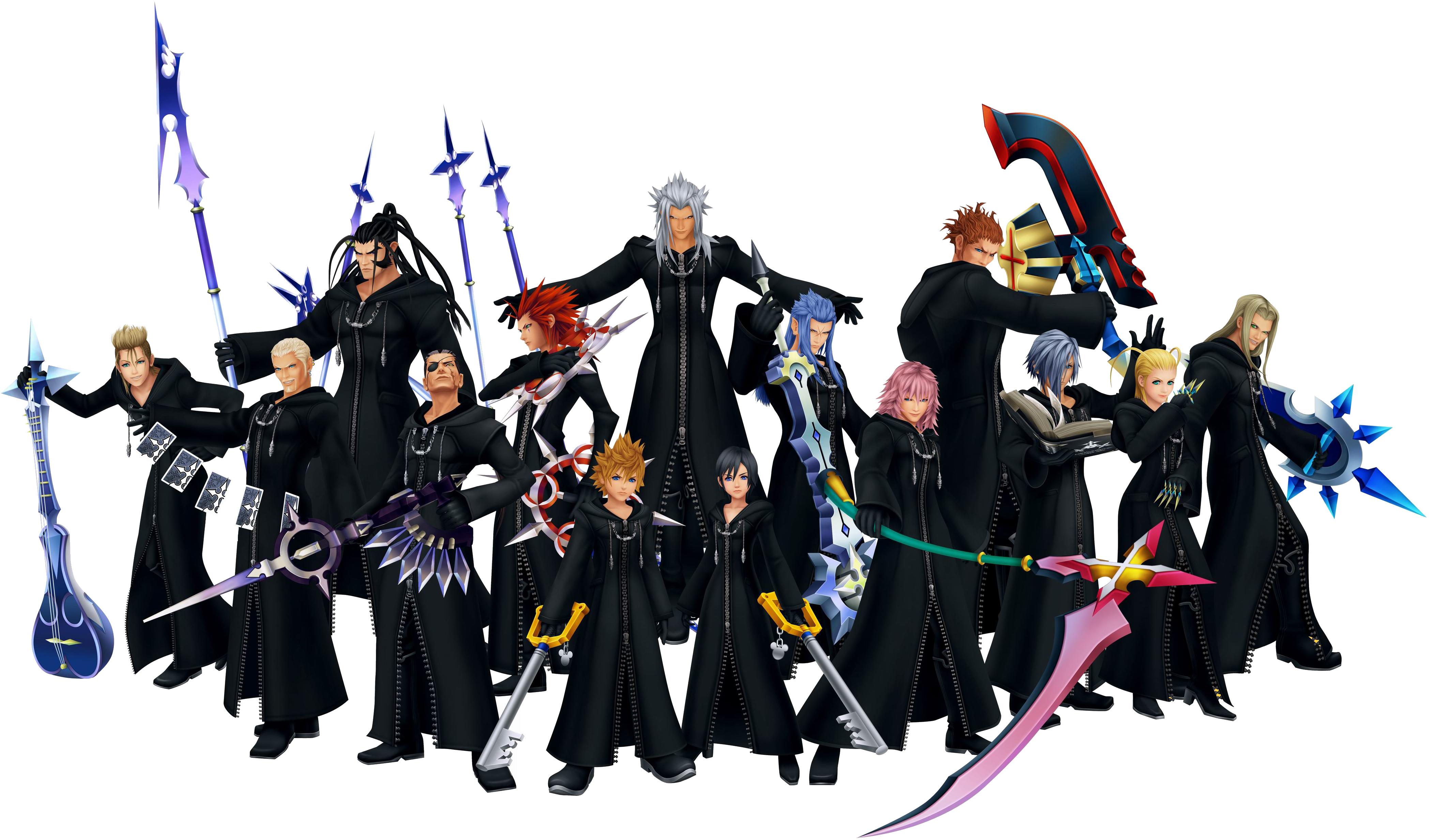 Action Figure organisation XIII version Kingdom Hearts 2 King Mickey
