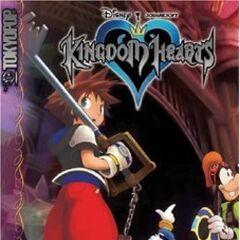 Cubierta del volumen 4 del manga de <i>Kingdom Hearts</i>