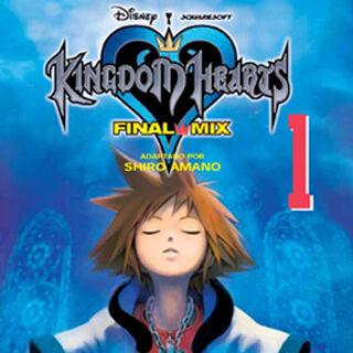 Cubierta española del volumen 1 del manga de <i>Kingdom Hearts Final Mix</i>