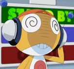 Kururu with his radio attena in his Keronian form