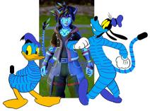 Sora, Donald & Goofy (Pandora Version)