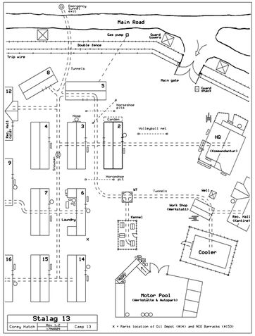 Map of Stalag13