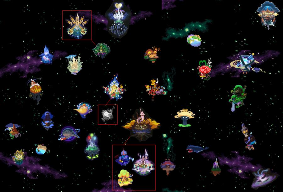 Image - KH World Map.png | Kingdom Hearts Fan Fiction | FANDOM ...