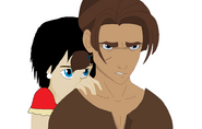 Jim protecting Xion