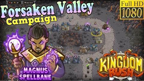 Kingdom Rush HD - Forsaken Valley Campaign (Level 11) Hero - Magnus Spellbane