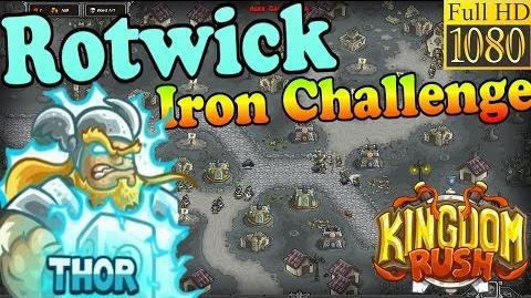 Kingdom Rush HD - Rotwick Iron Challenge (Level 19) Hero - Thor
