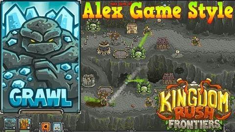 Kingdom Rush Frontiers HD The Dark Descent Campaign Level 14 Hero Grawl