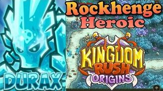 Kingdom Rush Origins HD - Rockhenge Heroic (Level 7) Hero Durax