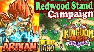 Kingdom Rush Origins HD - Redwood Stand Campaign (Level 4) Hero Arivan