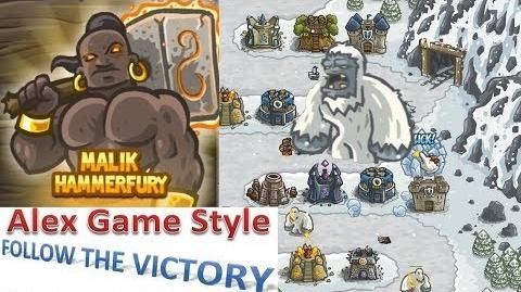 Kingdom Rush HD (BOSS Level 9 Stormcloud Temple) Campaign Hero - Malik Hammerfury only 3 StarS