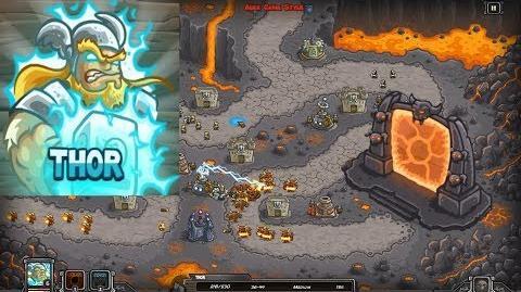 Kingdom Rush HD (Bonus Premium Level 25 Pit of Fire) Heroic Hero - Thor