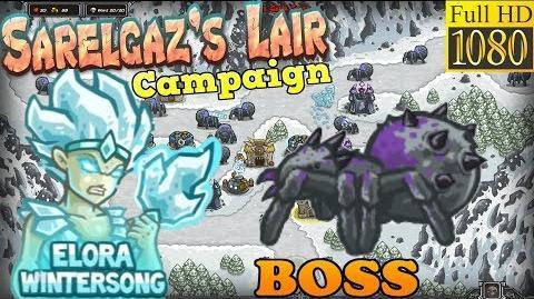 Kingdom Rush HD - BOSS Sarelgaz Sarelgaz's Lair Campaign (Level 13) Hero - Elora Wintersong