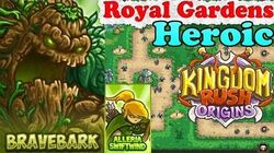 Kingdom Rush Origins HD - Royal Gardens Heroic (Level 5) Hero Bravebark Alleria Swiftwind