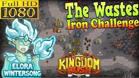 Kingdom Rush HD - The Wastes Iron Challenge (Level 10) Hero - Elora Wintersong