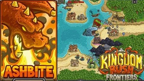 Kingdom Rush Frontiers HD Storm Atoll Campaign Level 17 Hero Ashbite