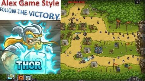 Kingdom Rush HD (Bonus Premium Level 15 Bandit's Lair) Iron Challenge Hero - Thor