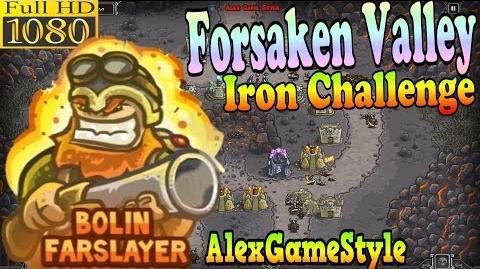 Kingdom Rush HD - Forsaken Valley Iron Challenge (Level 11) Hero - Bolin Farslayer