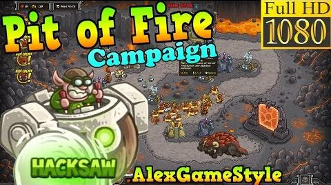 Kingdom Rush HD - Pit of Fire Campaign (Level 25) Hero - Hacksaw