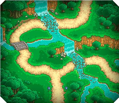 MiniLevel 0003 Waterfalls
