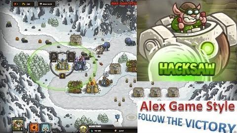 Kingdom Rush HD (Bonus Premium Level 13 Sarelgaz's Lair) Heroic Hero - Hacksaw