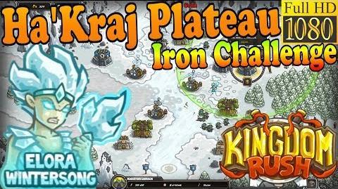 Kingdom Rush HD - Ha'kraj Plateau Iron Challenge (Level 18) Hero - Elora Wintersong