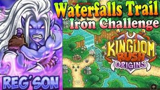 Kingdom Rush Origins HD - Waterfalls Trail Iron (Level 3) Hero Reg'son
