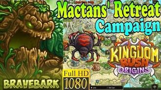 Kingdom Rush Origins HD - Mactans' Retreat Campaign (Level 14) Hero Bravebark