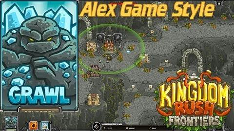Kingdom Rush Frontiers HD The Underpass Campaign Level 12 Hero Grawl