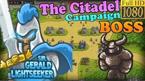 Kingdom Rush HD - BOSS Juggernaut - The Citadel Campaign (Level 6) Hero - Sir. Gerald Lightseeker