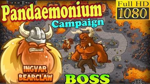 Kingdom Rush HD - Final BOSS Moloch Pandaemonium Campaign (Level 26) Hero - Ingvar Bearclaw