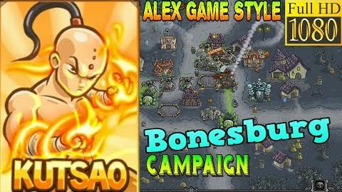 Kingdom Rush Frontiers HD - Bonesburg Campaign Level 20 - Hero Kutsao